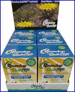 1 Case Roundup QuikPro Weed Killer Herbicide QuickPro 30 Packets