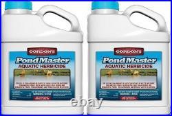 (2) ea PBI Gordon's 7371073 1 Gallon Pond Master Aquatic Herbicide / Weed Killer