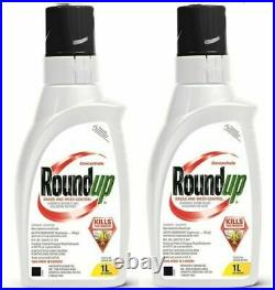 2 x ROUNDUP CONCENTRATED GRASS & WEED KILLER 2 x BOTTLES