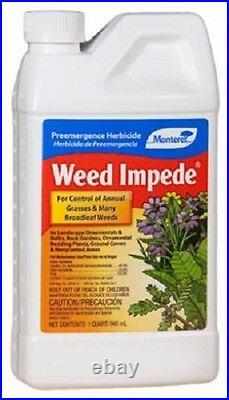 (3) Monterey LG5137 QUART Weed Impede Pre-Emergence Herbicide Prevents Weeds