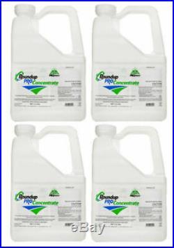 (4 X 2.5 Gallon Jugs) RoundUp Pro Concentrate Herbicide 50.2% Glyphosate