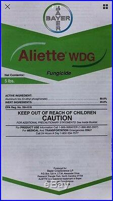 Aliette WDG Ag Systemic Fungicide 5 LB