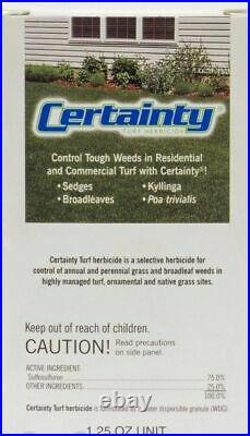 Certainty Herbicide effective sedge and weed control
