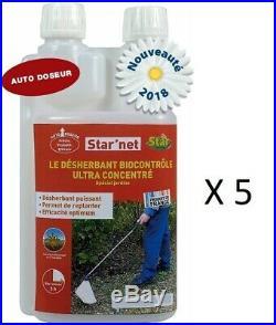Desherbant Bio Controle 5l 2775m² Acide Pelargonique 500 G/l Concentre Puissant