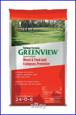 GreenView 24-0-6 Weed & Feed and Crabgrass Preventer For Tall Fescue 18 lb