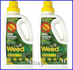 LOT Of 2 Weedex WEED CONTROL CONCENTRATE 1L Herbicide Superior Product