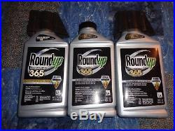 Lot of 3 Roundup Max Control 365 Concentrate 32-Oz Weed Killer Plus Preventer