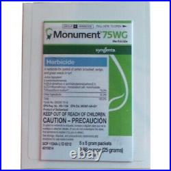 Monument 75WG Herbicide (5 x5 gram packets)