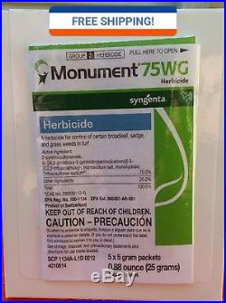 Monument 75WG Herbicide 5x5 Gram box (25 grams total) FAST, FREE SHIPPING