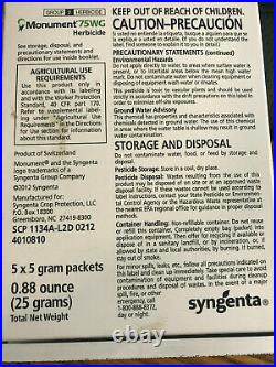 Monument 75WG Selective Herbicide (5 x 5 gram Packets) 25 grams