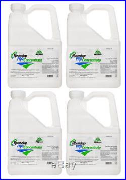 RoundUp Pro Concentrate Herbicide 50.2% Glyphosate (4 X 2.5 Gallon Jugs)