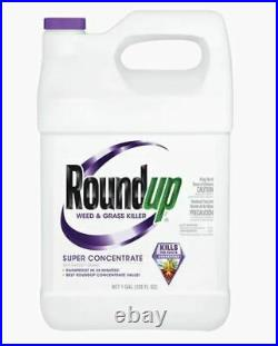 Roundup 1 Gallon Super Concentrated Weed and Grass Killer 2 pack