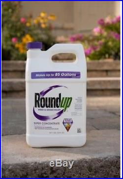 Roundup Lawn Weed Grass Killer 1 Gal Rainproof Liquid Outdoor Super Concentrate