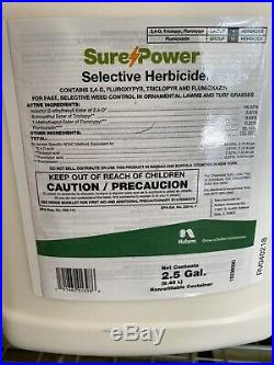 Sure Power Selective Herbicide Kills Crabgrass And Nutsedge & Many More 2-2.5gal