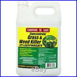 Yard Weed Killer Lawn Concentrate Grass 41% Glyphosate 1 Gallon Garden Rainproof